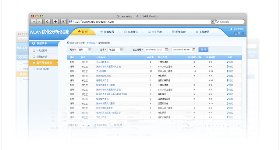 无线网络分析系统界面设计 (3p)
